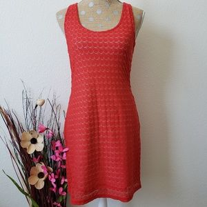 Tank Dress Lace Overlay Orange Sanctuary Size 12